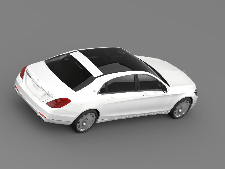 mercedes maybach s400 x222 2015 3d model 3ds max fbx c4d lwo ma mb hrc xsi obj 166124