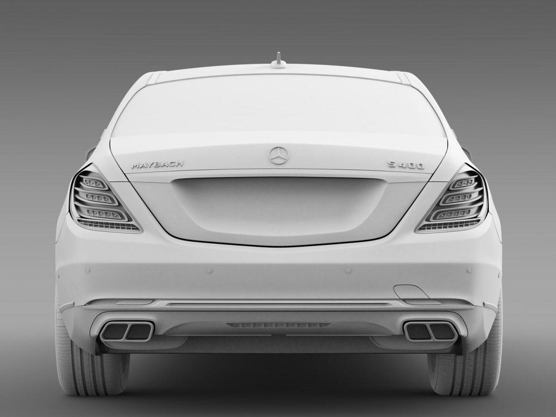 mercedes maybach s400 x222 2015 3d model 3ds max fbx c4d lwo ma mb hrc xsi obj 166126