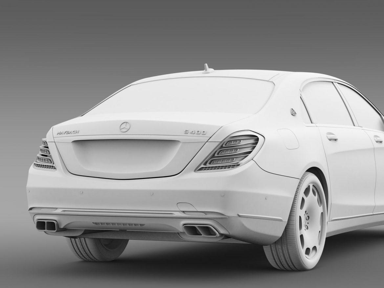 mercedes maybach s400 x222 2015 3d model 3ds max fbx c4d lwo ma mb hrc xsi obj 166128
