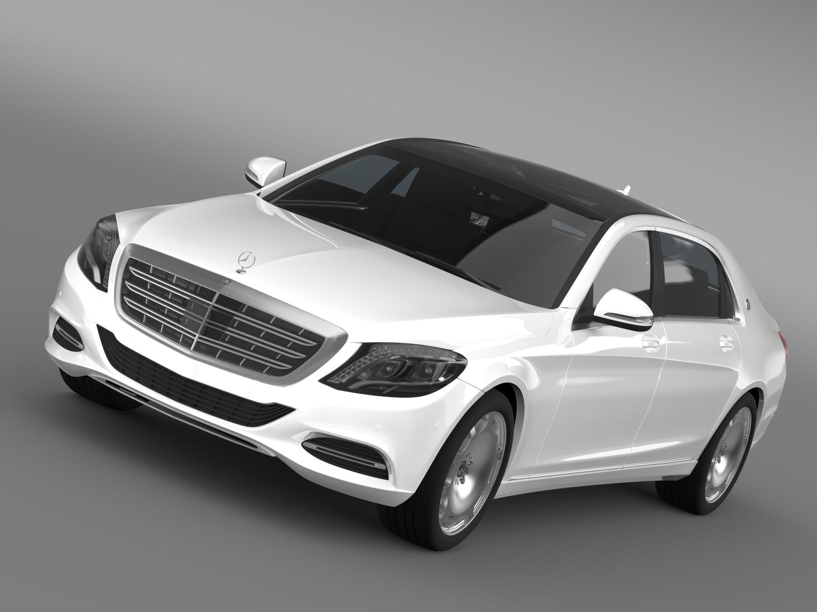 mercedes maybach s500 x222 2015 3d model 3ds max fbx c4d lwo ma mb hrc xsi obj 166132