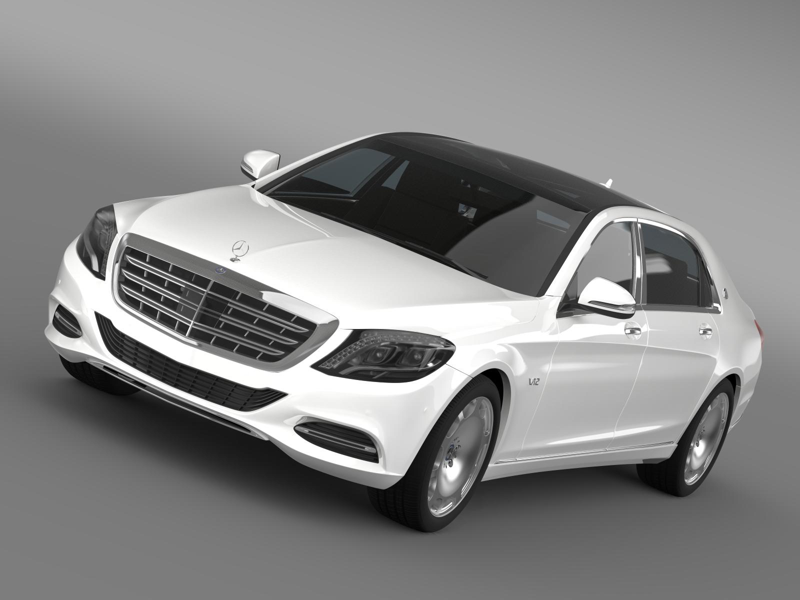 mercedes maybach s600 x222 2015 3d model 3ds max fbx c4d lwo ma mb hrc xsi obj 164902