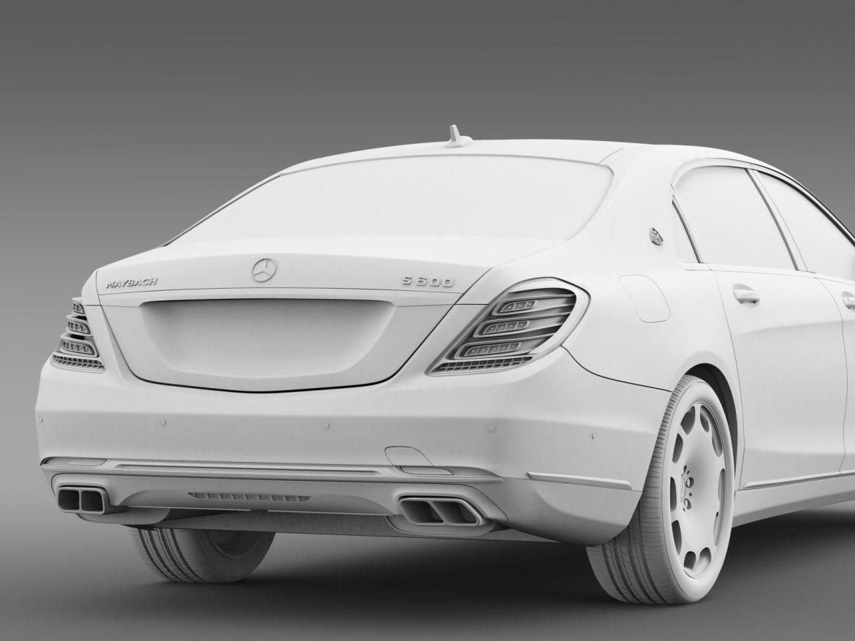 mercedes maybach s600 x222 2015 3d model 3ds max fbx c4d lwo ma mb hrc xsi obj 164916