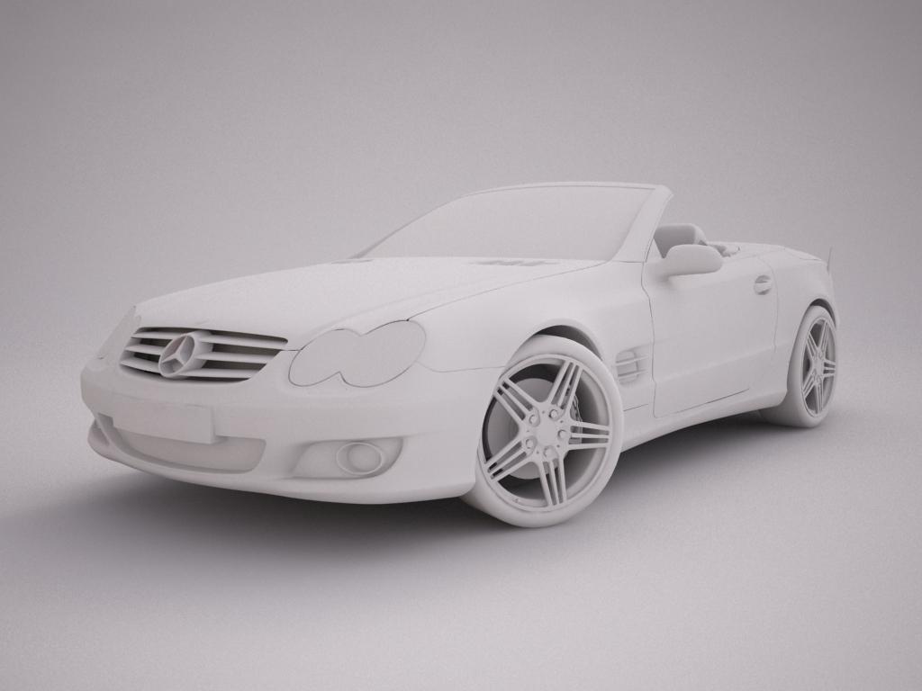mercedes sl500 kabriolets 3d modelis 3ds max jpeg jpg tekstūra obj 123419