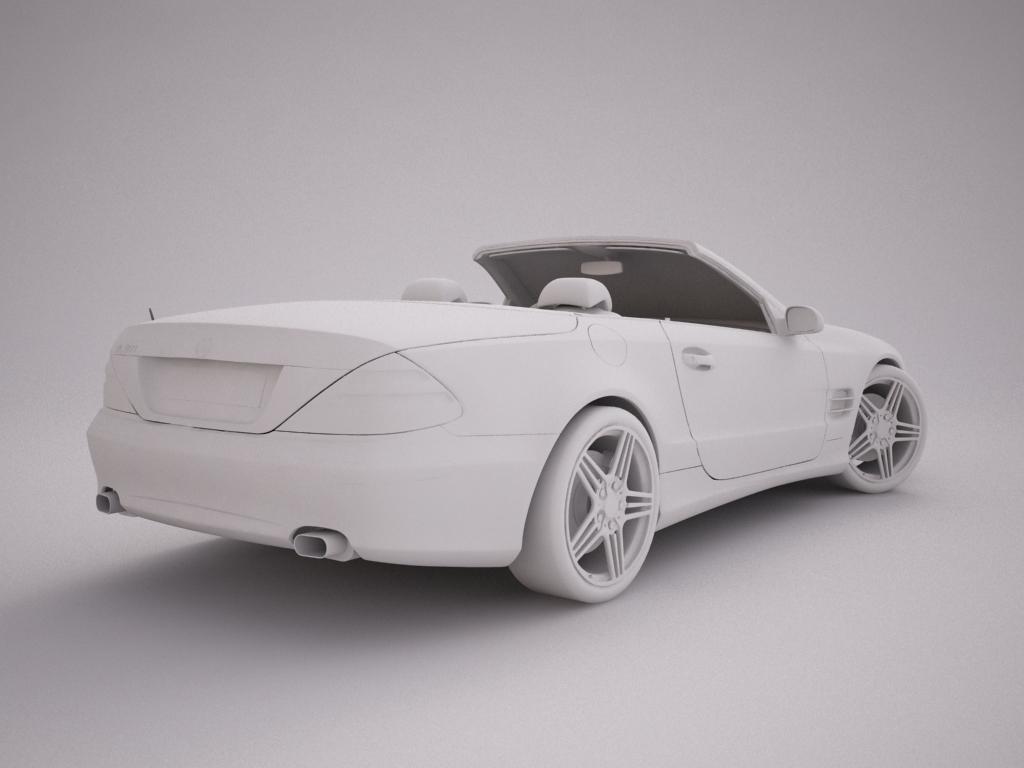 mercedes sl500 kabriolets 3d modelis 3ds max jpeg jpg tekstūra obj 123421