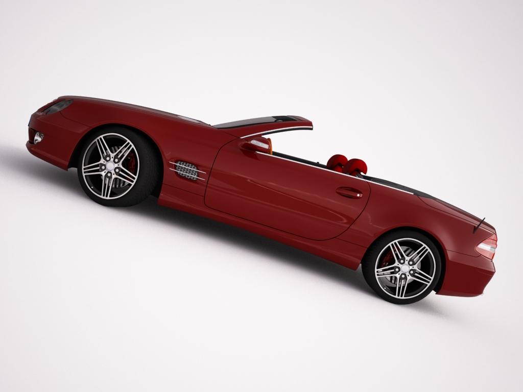 mercedes sl500 kabriolets 3d modelis 3ds max jpeg jpg tekstūra obj 123422