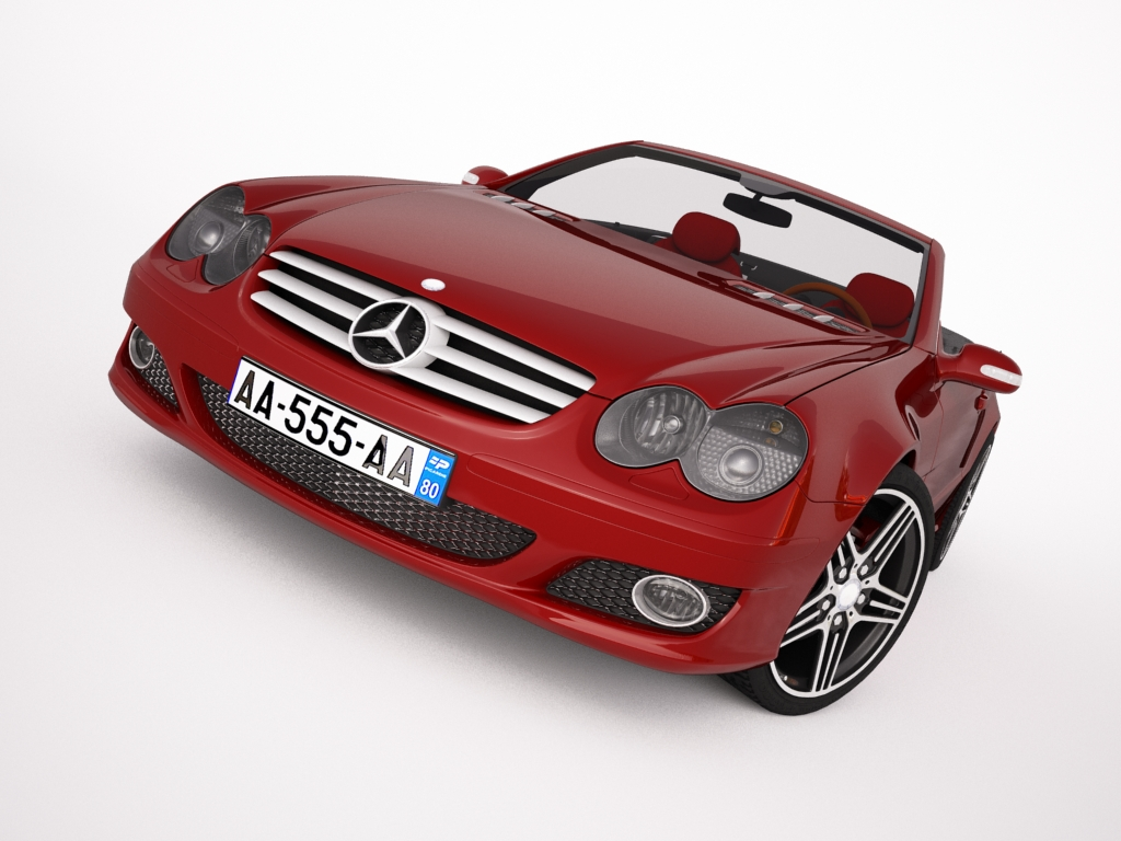mercedes sl500 kabriolets 3d modelis 3ds max jpeg jpg tekstūra obj 123424