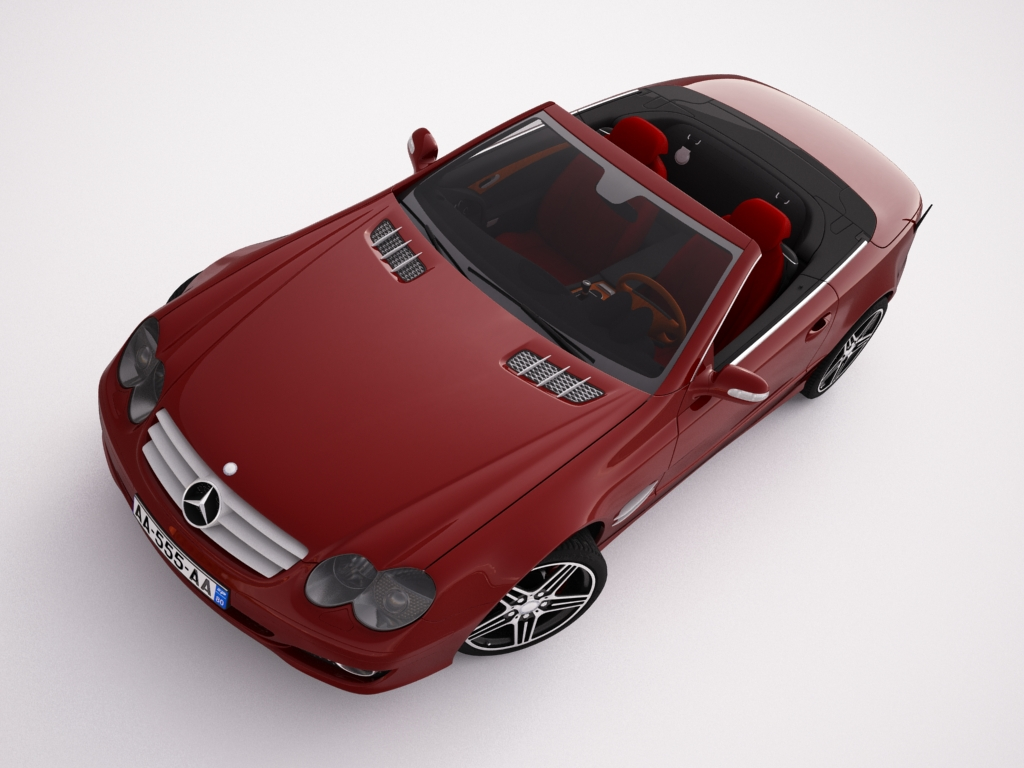 mercedes sl500 kabriolets 3d modelis 3ds max jpeg jpg tekstūra obj 123426