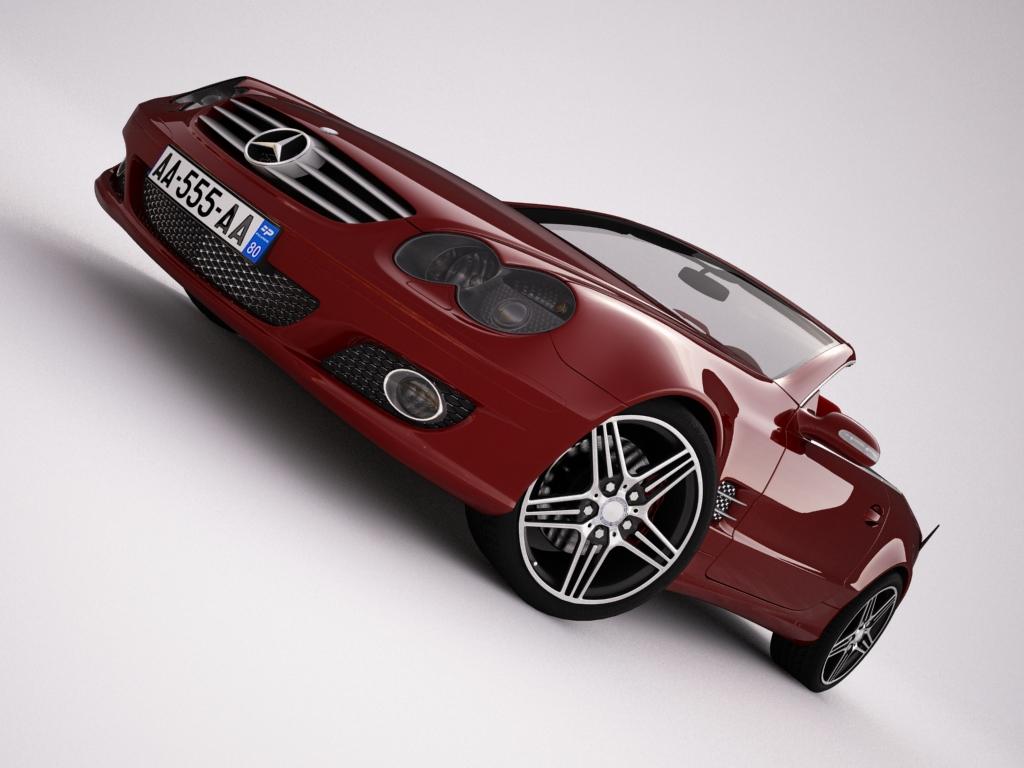 mercedes sl500 kabriolets 3d modelis 3ds max jpeg jpg tekstūra obj 123428