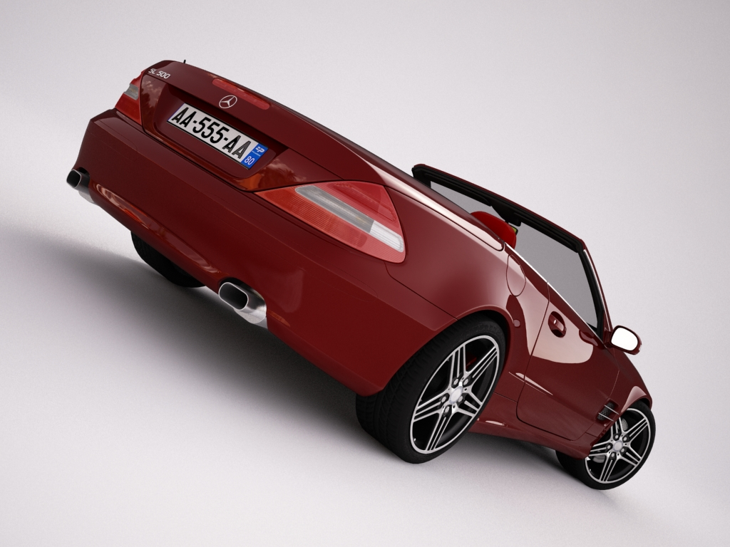 mercedes sl500 kabriolets 3d modelis 3ds max jpeg jpg tekstūra obj 123429