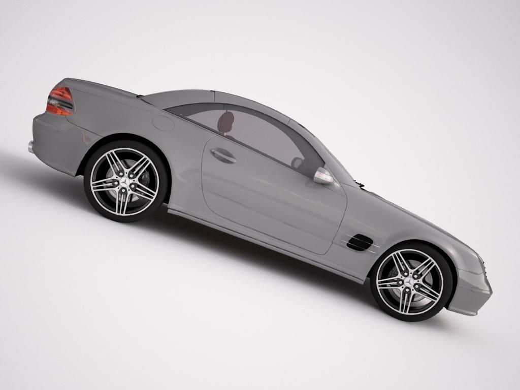 mercedes sl55 3d modelis 3ds max dxf faktūra obj 120375