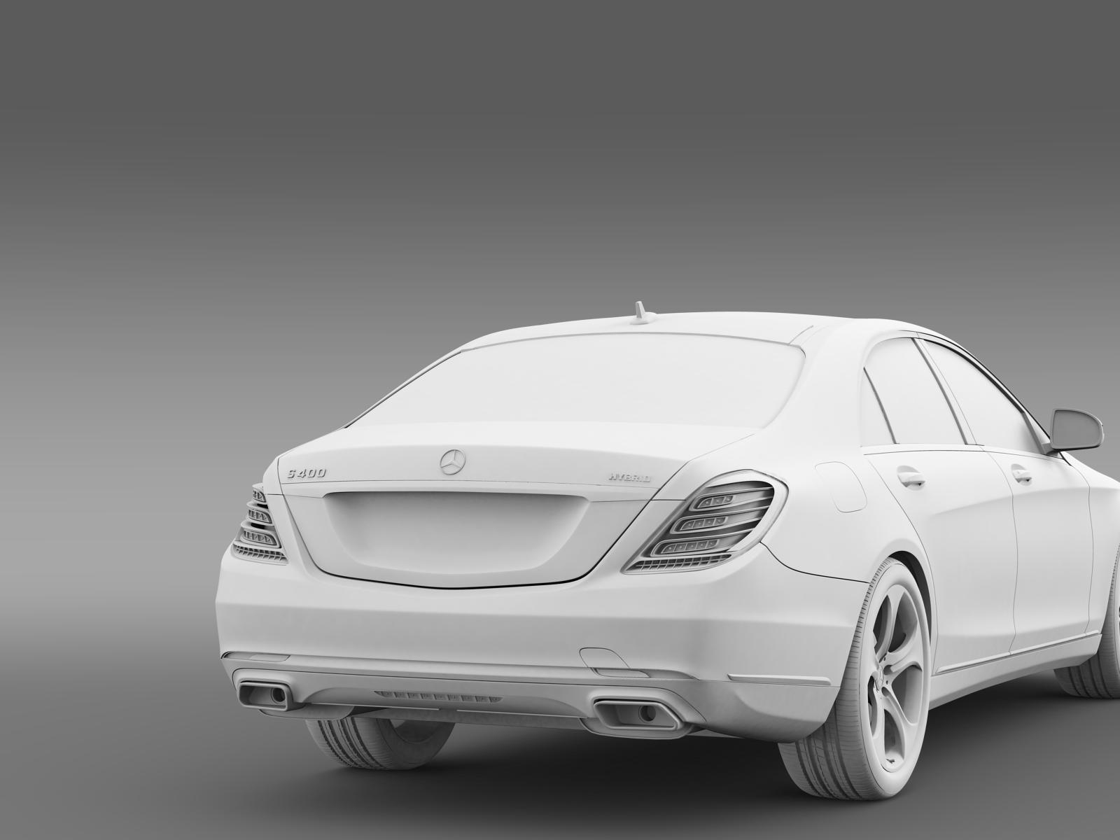 Mercedes benz s 400 hybrid w222 2013 3d model buy for Mercedes benz model s