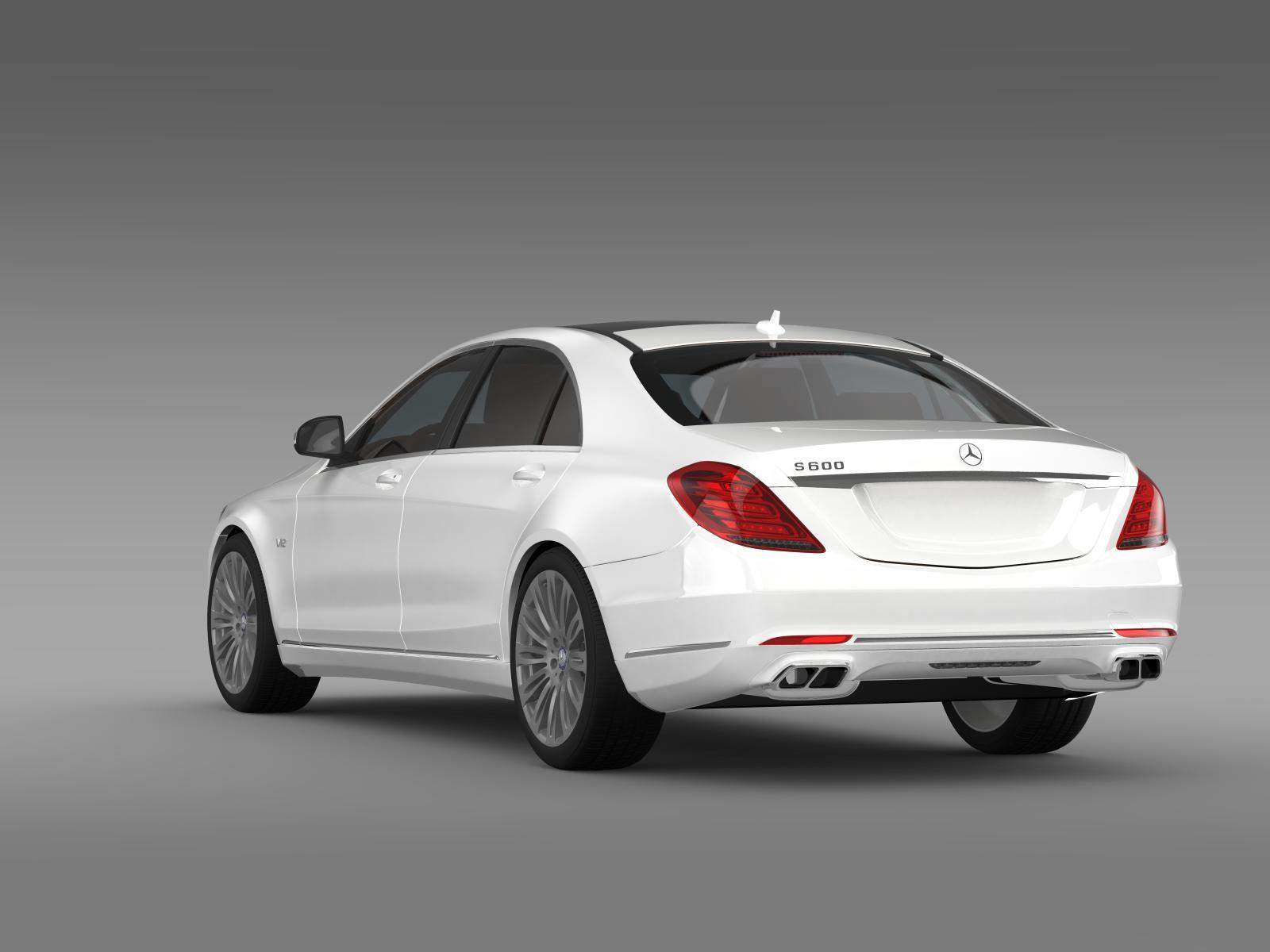 Mercedes benz s 600 v12 w222 2014 3d model buy mercedes for V12 mercedes benz