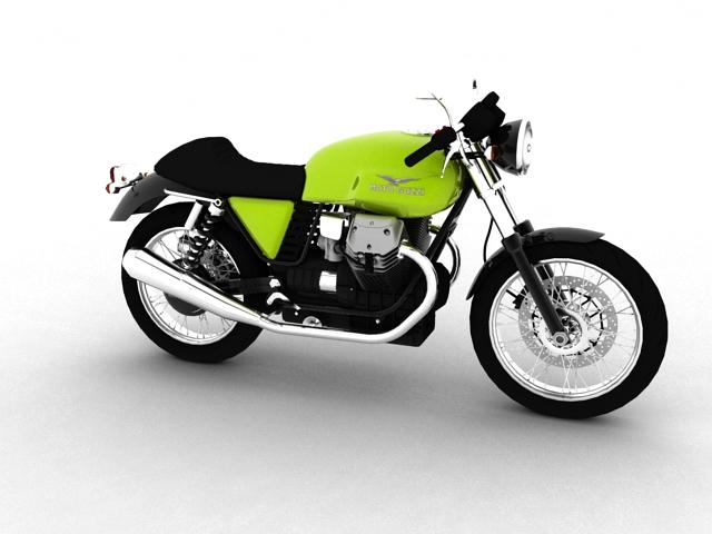 moto guzzi v7 cafe classic 2010 3d model 3ds max c4d obj 151646