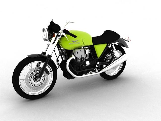 moto guzzi v7 cafe classic 2010 3d model 3ds max c4d obj 151647