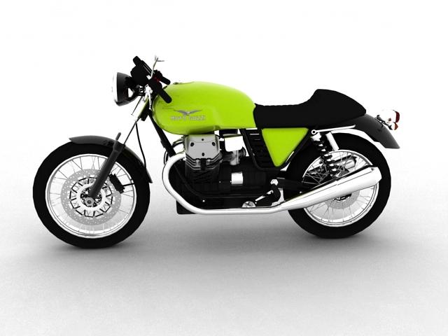 moto guzzi v7 cafe classic 2010 3d model 3ds max c4d obj 151648