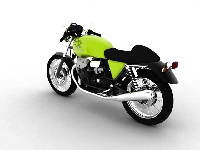 moto guzzi v7 cafe classic 2010 3d model 3ds max c4d obj 151649