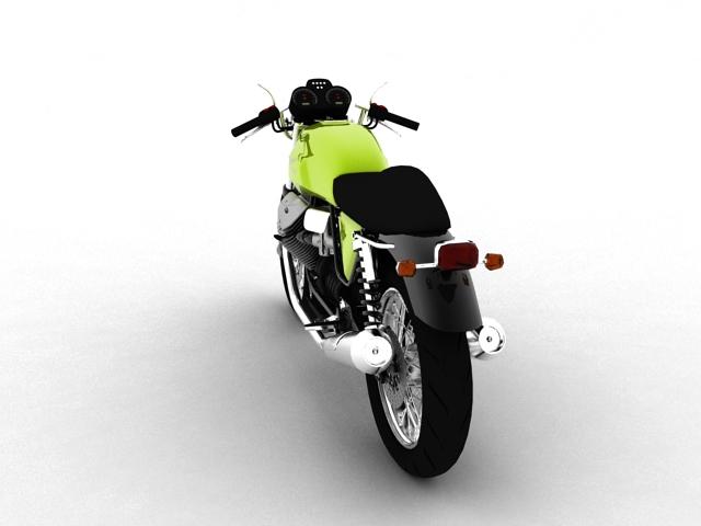 moto guzzi v7 cafe classic 2010 3d model 3ds max c4d obj 151650