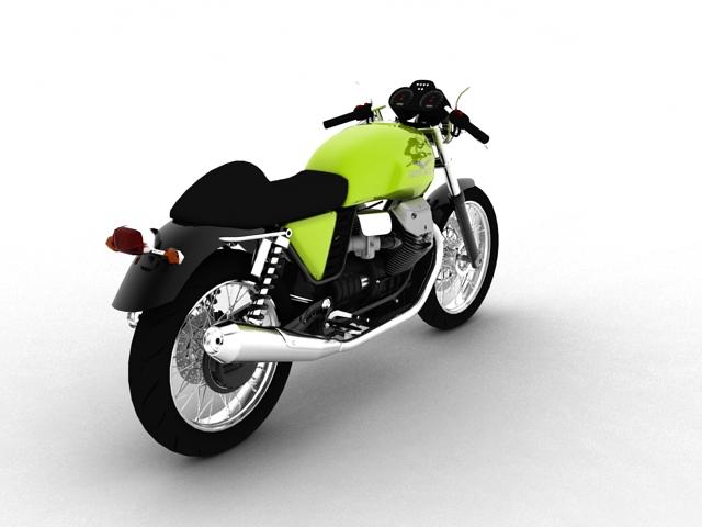 moto guzzi v7 cafe classic 2010 3d model 3ds max c4d obj 151651