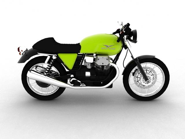 moto guzzi v7 cafe classic 2010 3d model 3ds max c4d obj 151652