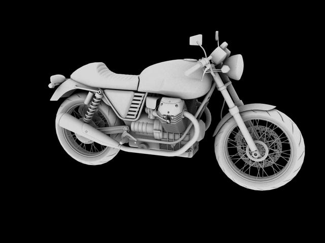moto guzzi v7 cafe classic 2010 3d model 3ds max c4d obj 151654