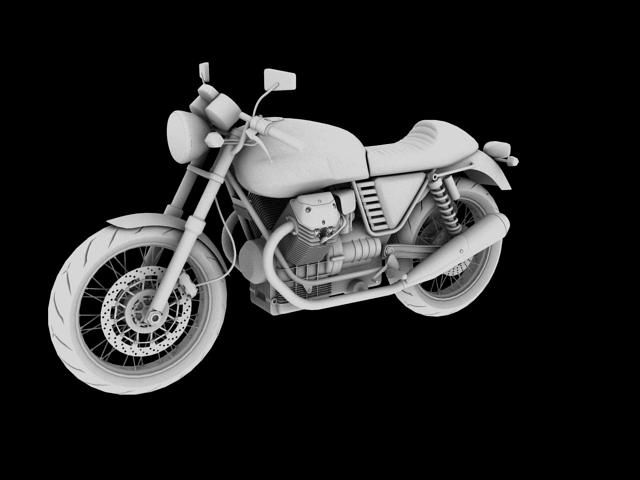 moto guzzi v7 cafe classic 2010 3d model 3ds max c4d obj 151655