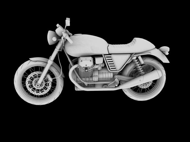 moto guzzi v7 cafe classic 2010 3d model 3ds max c4d obj 151656