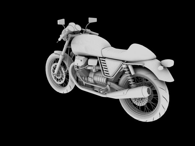 moto guzzi v7 cafe classic 2010 3d model 3ds max c4d obj 151657