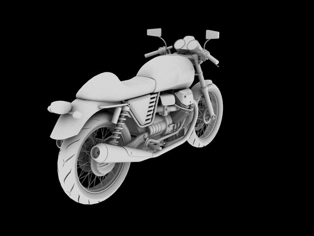 moto guzzi v7 cafe classic 2010 3d model 3ds max c4d obj 151658