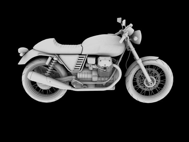 moto guzzi v7 cafe classic 2010 3d model 3ds max c4d obj 151659