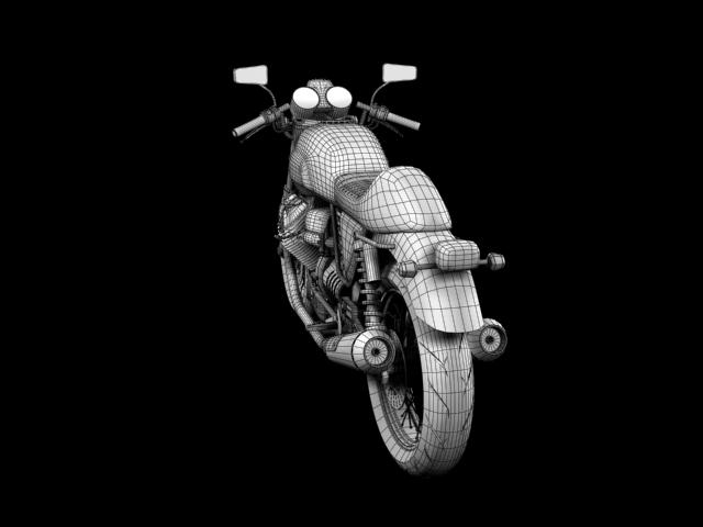 moto guzzi v7 cafe classic 2010 3d model 3ds max c4d obj 151660