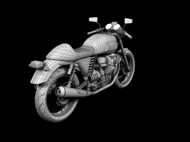 moto guzzi v7 cafe classic 2010 3d model 3ds max c4d obj 151661