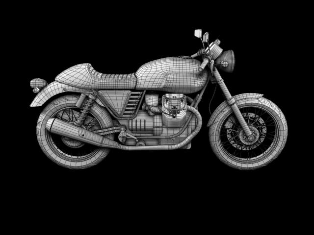 moto guzzi v7 cafe classic 2010 3d model 3ds max c4d obj 151662