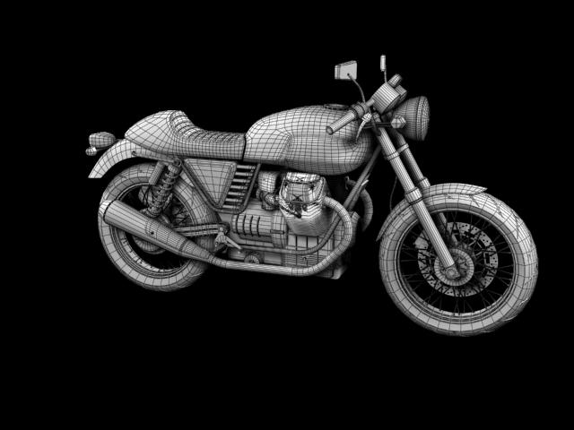 moto guzzi v7 cafe classic 2010 3d model 3ds max c4d obj 151663