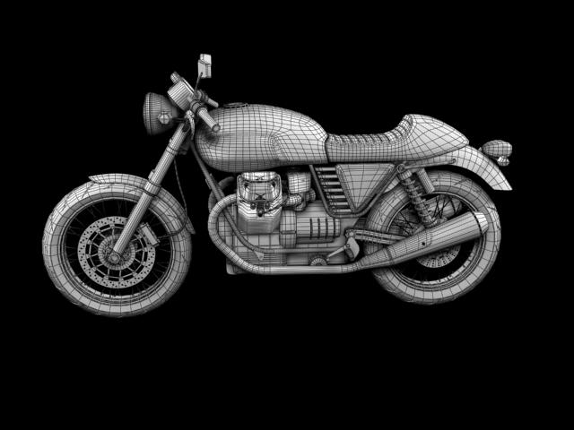 moto guzzi v7 cafe classic 2010 3d model 3ds max c4d obj 151664