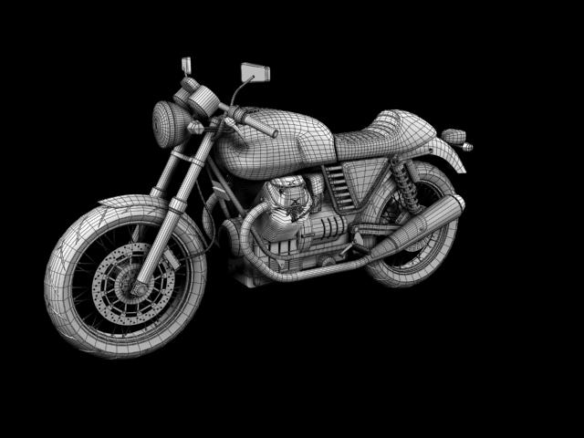 moto guzzi v7 cafe classic 2010 3d model 3ds max c4d obj 151665