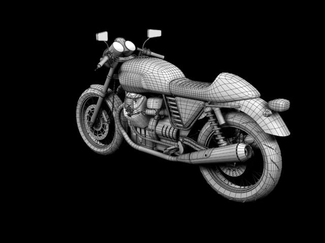 moto guzzi v7 cafe classic 2010 3d model 3ds max c4d obj 151666