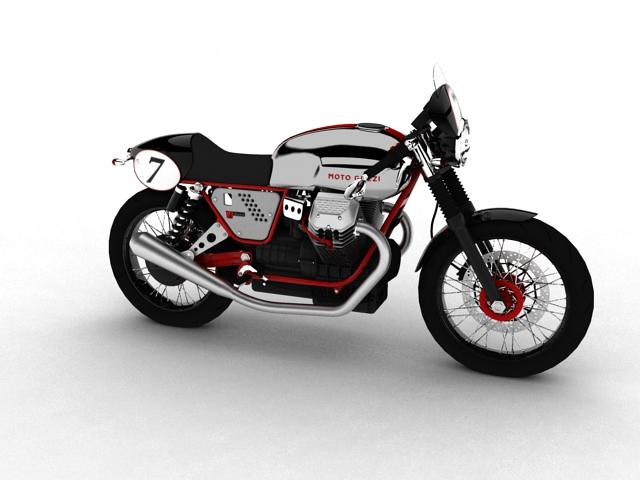 moto guzzi v7 clubman racer 2010 3d model 3ds max c4d obj 151900