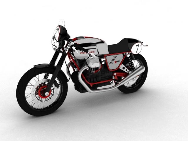 moto guzzi v7 clubman racer 2010 3d model 3ds max c4d obj 151901