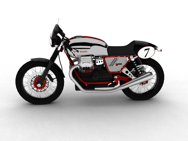 moto guzzi v7 clubman racer 2010 3d model 3ds max c4d obj 151902