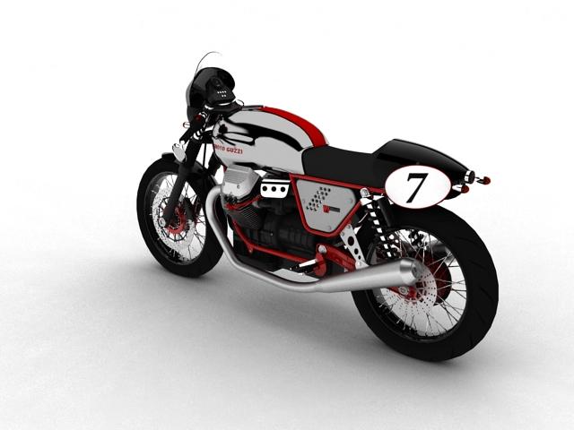 moto guzzi v7 clubman racer 2010 3d model 3ds max c4d obj 151903