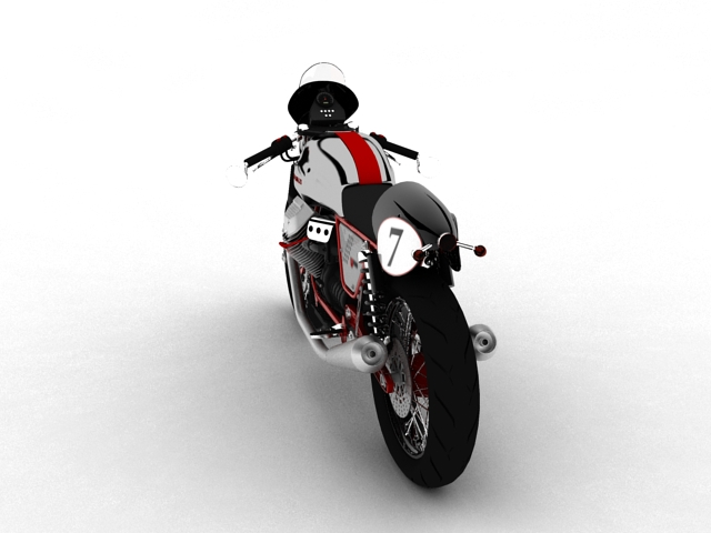 moto guzzi v7 clubman racer 2010 3d model 3ds max c4d obj 151904