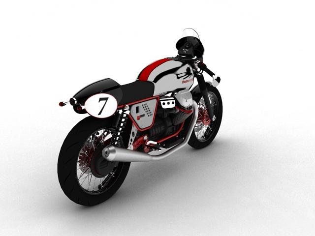 moto guzzi v7 clubman racer 2010 3d model 3ds max c4d obj 151905