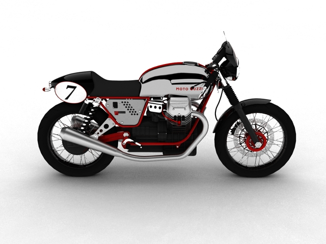 moto guzzi v7 clubman racer 2010 3d model 3ds max c4d obj 151906