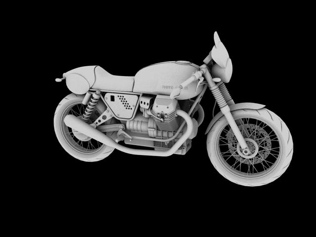 moto guzzi v7 clubman racer 2010 3d model 3ds max c4d obj 151907