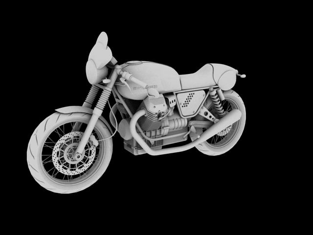 moto guzzi v7 clubman racer 2010 3d model 3ds max c4d obj 151908