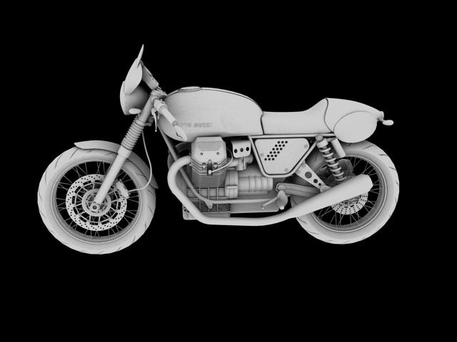moto guzzi v7 clubman racer 2010 3d model 3ds max c4d obj 151909