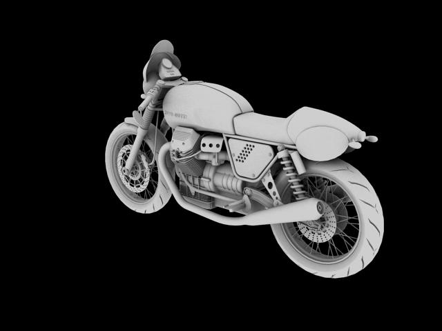 moto guzzi v7 clubman racer 2010 3d model 3ds max c4d obj 151910