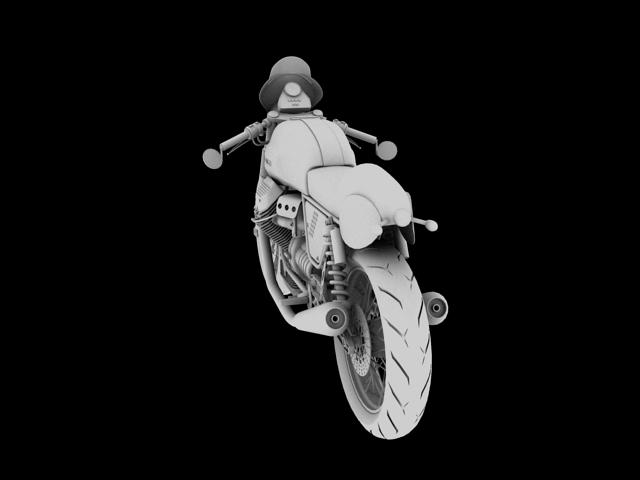 moto guzzi v7 clubman racer 2010 3d model 3ds max c4d obj 151911