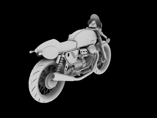 moto guzzi v7 clubman racer 2010 3d model 3ds max c4d obj 151912