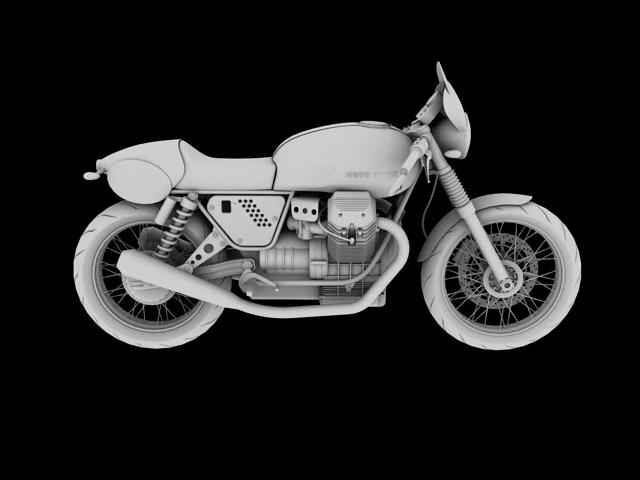 moto guzzi v7 clubman racer 2010 3d model 3ds max c4d obj 151913